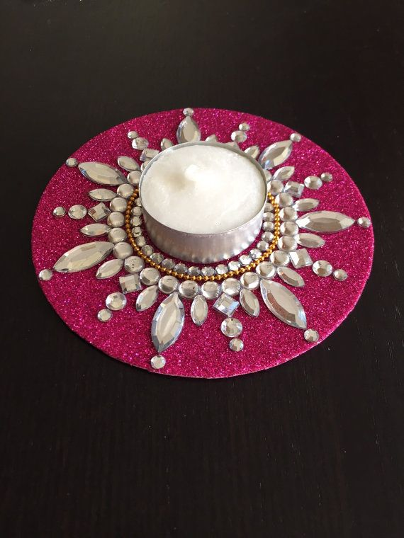 Tealight candle holder, diya, diwali, gypsy decor, Boho room by CozMHappy