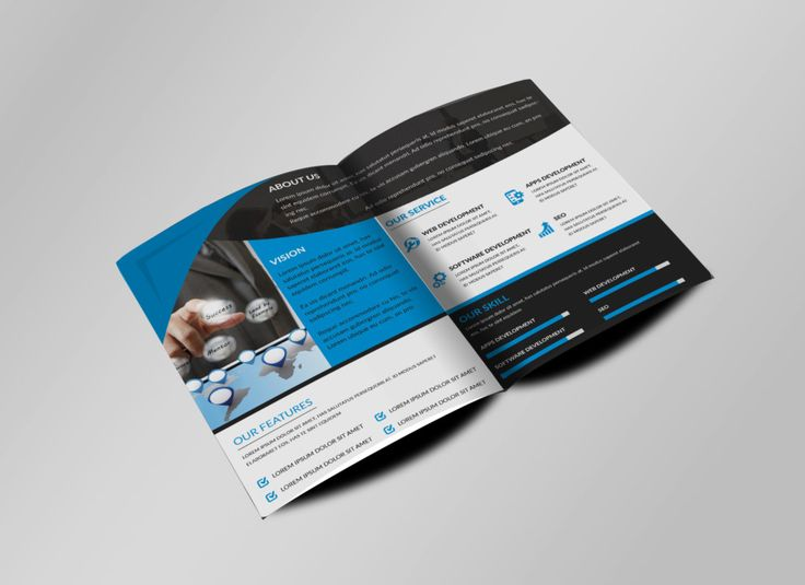 Sample Bi Fold Brochure Best Creative Brochure Template Psd - Template brochure