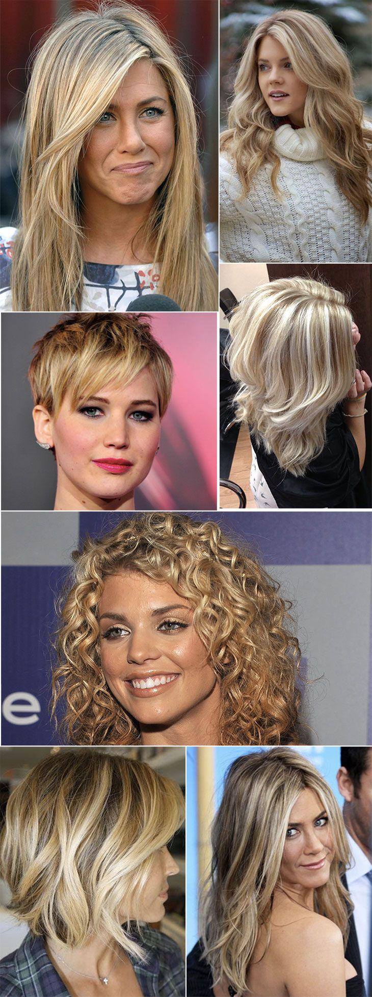 Inspirações de cabelos com luzes: loiros
