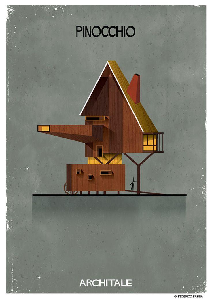 federico babina's imaginative illustrations tell fairy tales through architecture  www.designboom.com