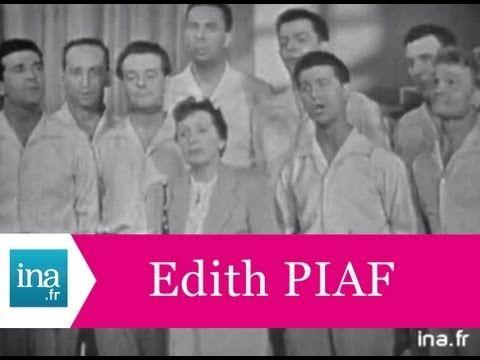 """Edith Piaf et Les Compagnons De La Chanson """"Les 3 cloches"""" (live officiel) - Archive INA - YouTube"""