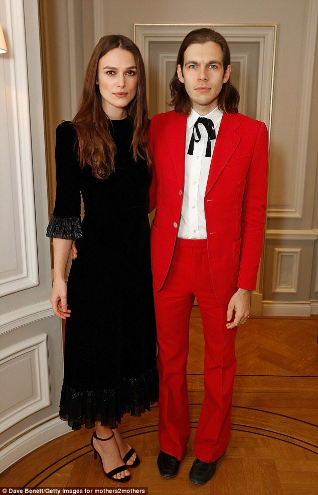 Red hot! Keira Knightley, 32, and James Righton, 34, still looked in the first throes of love as they attended the mothers2mothers Winter Fundraiser in London on Wednesday