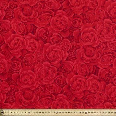 Timeless Treasures Roses Blender Fabric Red 112 cm