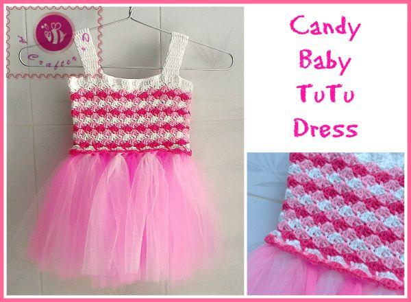 #Crochet Candy baby tutu dress free pattern from Maz Kwok's Designs