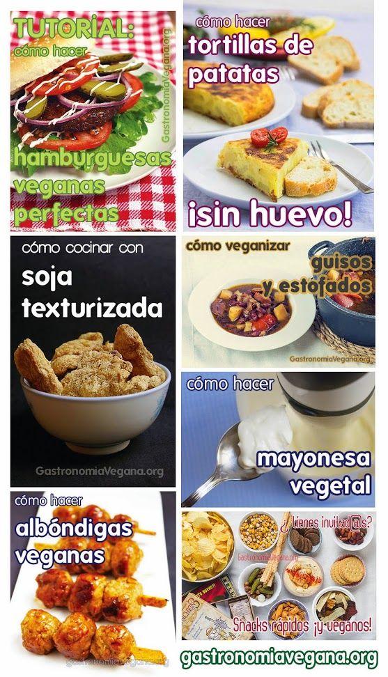 ➧ Tutorial: cómo hacer hamburguesas 100% vegetales con tus ingredientes favoritos: http://www.gastronomiavegana.org/recetas/como-hacer-hamburguesas-veganas-perfectas/ ➧ Cómo hacer tortillas de patatas sin huevos: http://www.gastronomiavegana.org/tutoriales/como-hacer-tortillas-de-patatas-sin-huevos/ ➧ Cómo cocinar con soja texturizada: http://www.gastronomiavegana.org/recetas/como-cocinar-con-soja-texturizada/ ➧ Cómo veganizar guisos y estofados…
