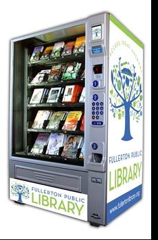 Library Card Book Vending Machine in Fullerton!