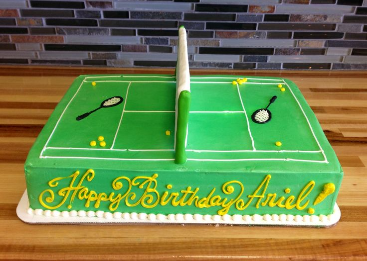 Tennis Themed Cake Birthday Cakes Pinterest Themed
