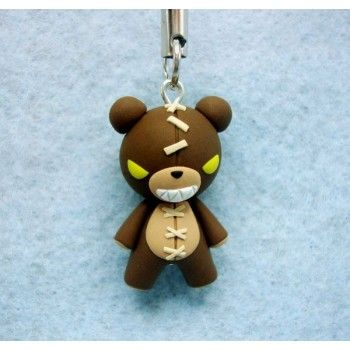 Tibbers,keychain, mobile accesories, fimo, handmade,llavero,colgante de movil,hecho a mano,lol,league of legends, video juegos,videogame,