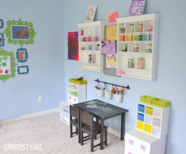 Storage Ideas For Kids Craft Room