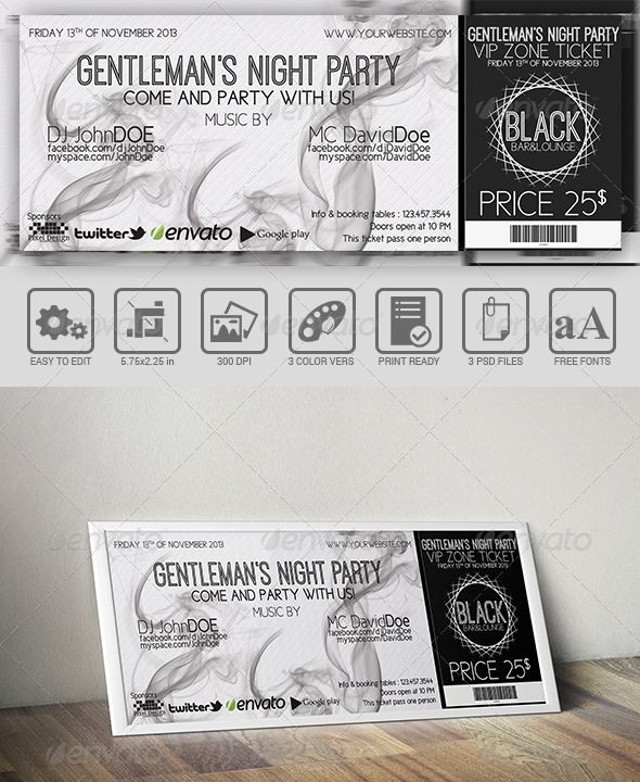 118 best Ticket Template images on Pinterest Event tickets - event ticket template free download