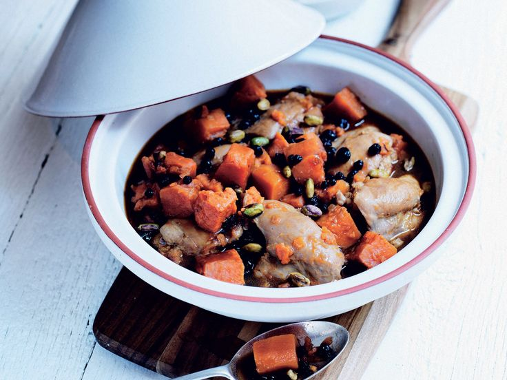 CHICKEN TAGINE WITH BAKED SWEET POTATO