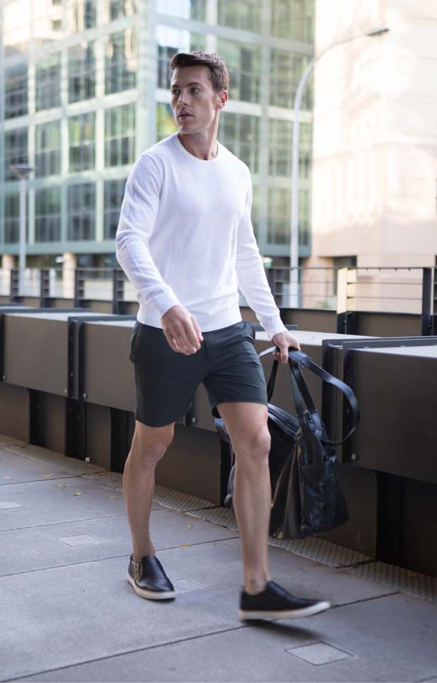 black shorts mens style