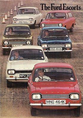 Ford Escort Mk1 1971-72 UK Market Sales Brochure Base L XL GT Estate