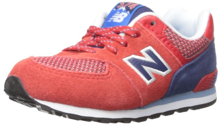 New Balance KL574 Summit Infant Running Shoe (Infant/Toddler), Red/Blue, 7.5 W US Toddler. Ethylene vinyl acetate midsole and heel.