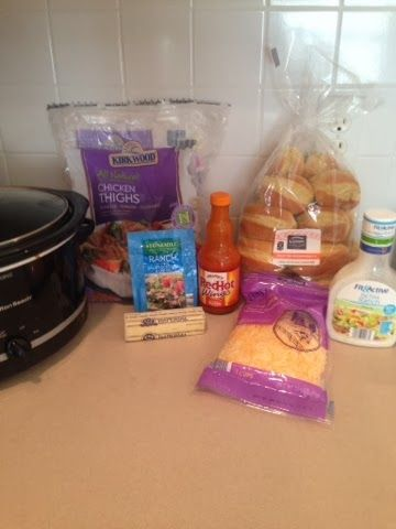 Wishes do come true...: Buffalo Chicken Sliders-Crockpot aldi recipe cheap recipe easy recipe @ALDI USA