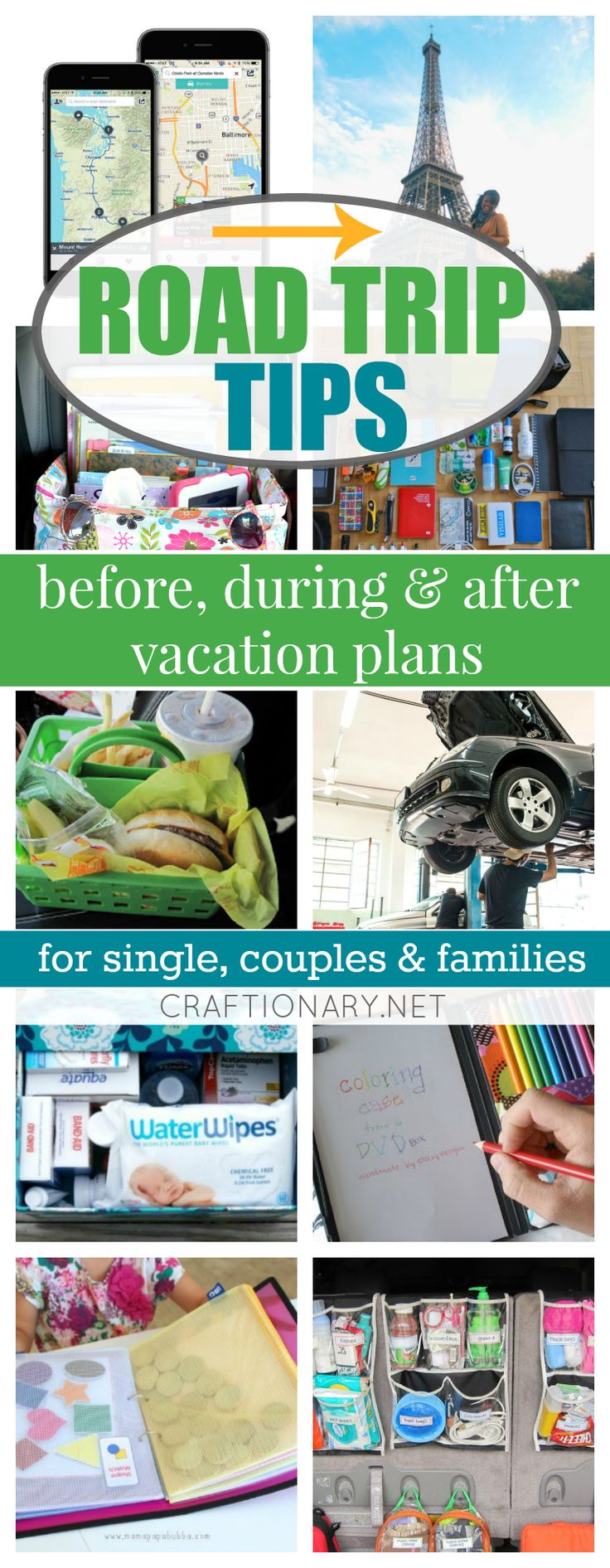 Make your road trip a fun filled, hastle free memory with these mind blowing road trip tips, tricks & hacks. Best ideas for planning an organized vacation.