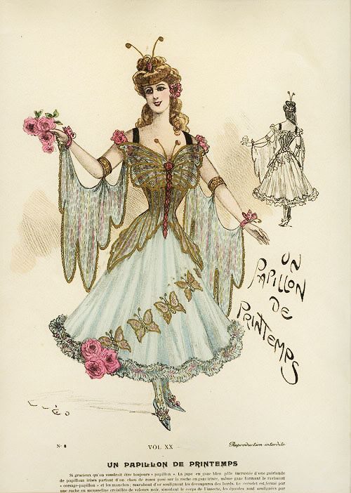 My Little Time Machine — gravesandghouls: Fancy Dress Costumes c. 1800s... spring butterfly