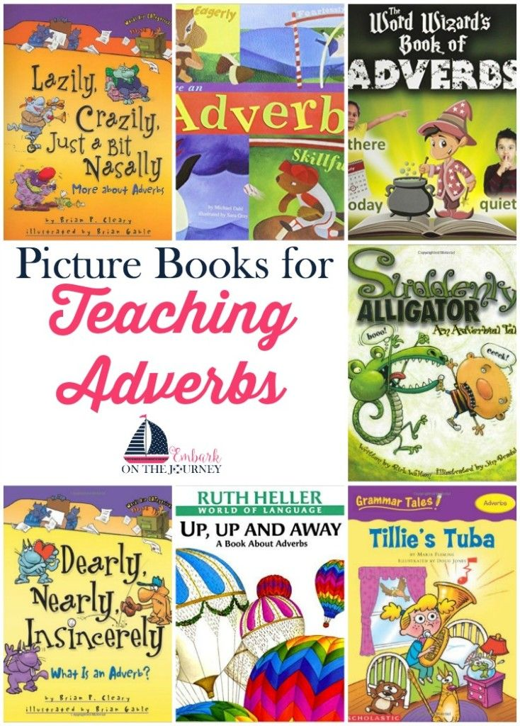 Picture books bring academic lessons to life. Use this list (and my free printables) to further illustrate adverbs in your homeschool and classroom lessons.