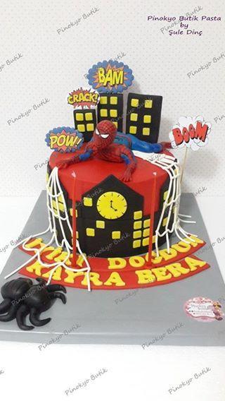 Pinokyo Butik Pasta ve Kurabiye - İzmit: Spiderman pasta ve kurabiyeleri...