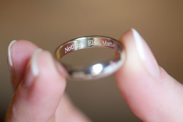 First song will forever be remembered in your wedding ring!  Sentimental Wedding Ideas - Heirloom Wedding Ideas | Wedding Planning, Ideas & Etiquette | Bridal Guide Magazine