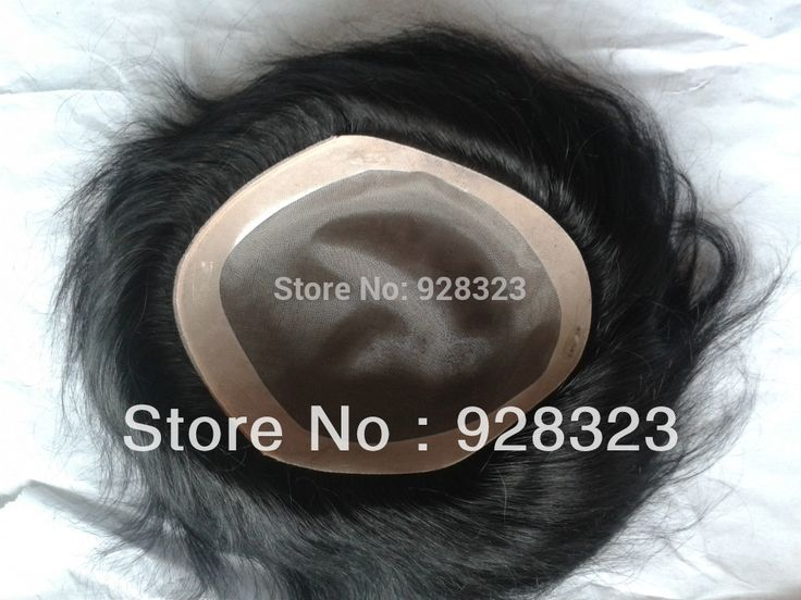 99.00$  Buy here - http://aliyqq.worldwells.pw/go.php?t=1563550428 - Fast Free Shipping 8x6 Men's Toupee 6 inch  hair slight wave stock Men toupee Colour 1 Jet Black In Stock Toupees