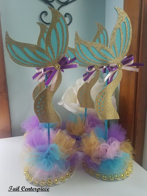 Mermaid Centerpiece Mermaid Baby Shower Centerpiece