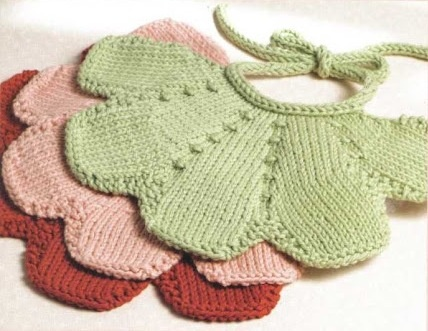 Petal Bib from the book Oneskein #knit