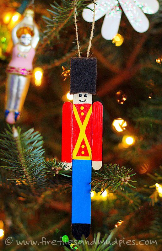 Easy Toy Soldier Ornament | Fireflies and Mud Pies