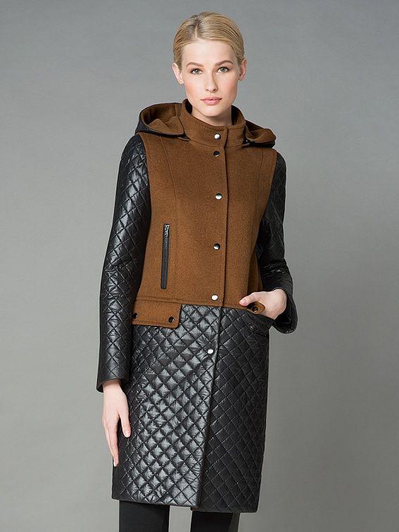 Пальто женское цвет кэмел, пальтовая ткань, артикул 1015840i00006