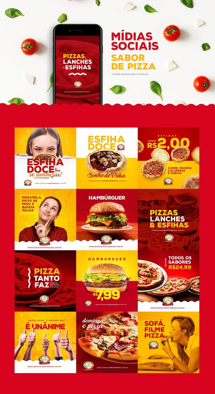 Sabor de Pizza | Mídias Sociais on Behance