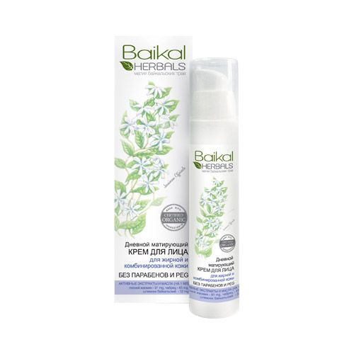 Matting day face cream for oily or combination skin Baikal Herbals