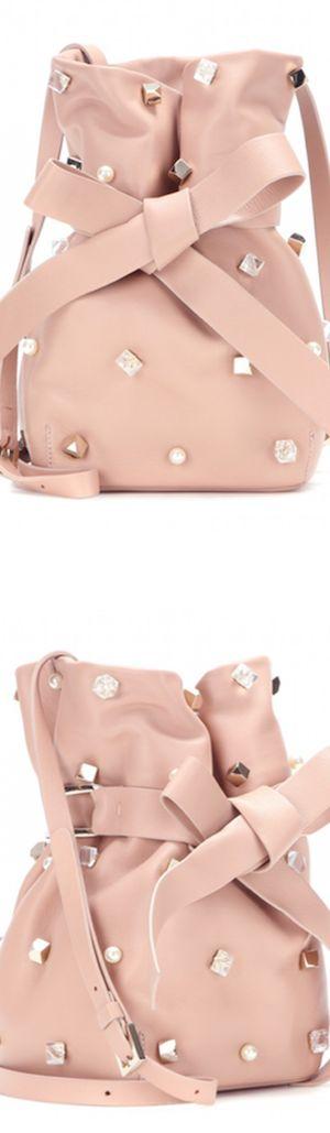 "Jimmy Choo ""Eve"" Embellished Leather Bucket Bag   LOLO      ᘡղbᘠ"