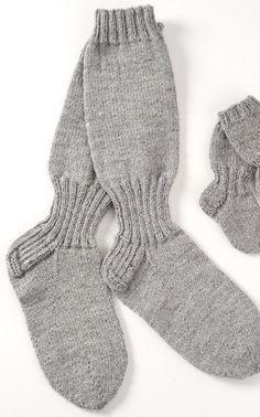 Pitkävartiset villasukat joissa on nilkkajoustin Novita 7 Veljestä | Novita knits