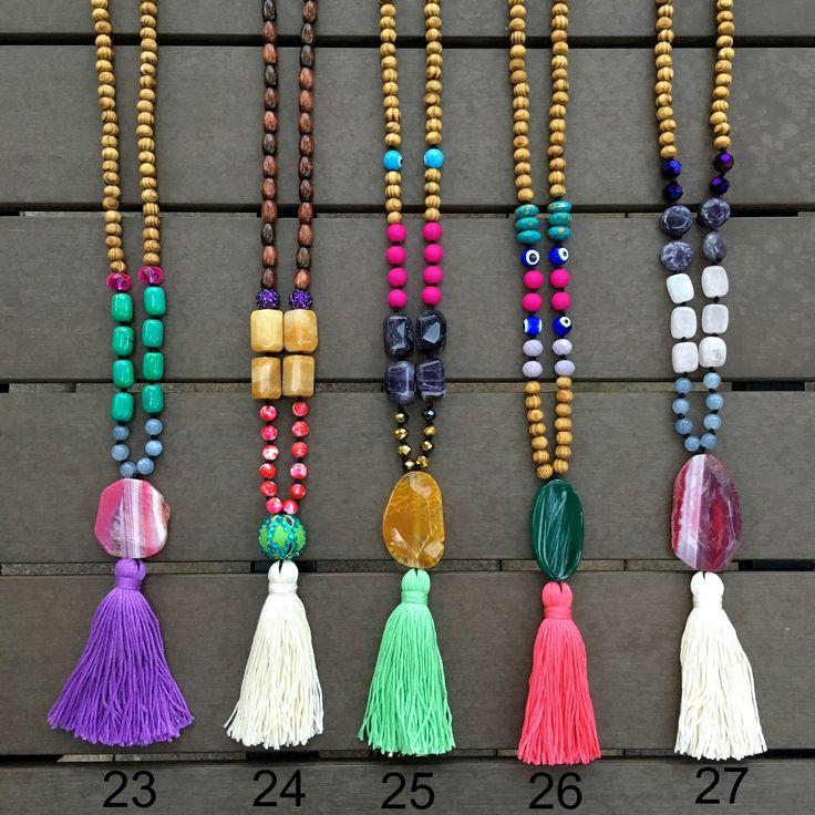 Grace - Agate Boho Bali necklaces