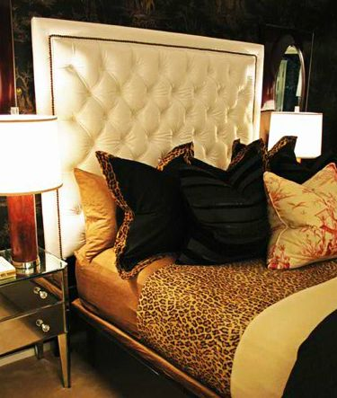 BARCLAY BUTERA    You Can Never Go Wrong By Adding A Little Sexy Animal  Print To Your Master Bedroom;