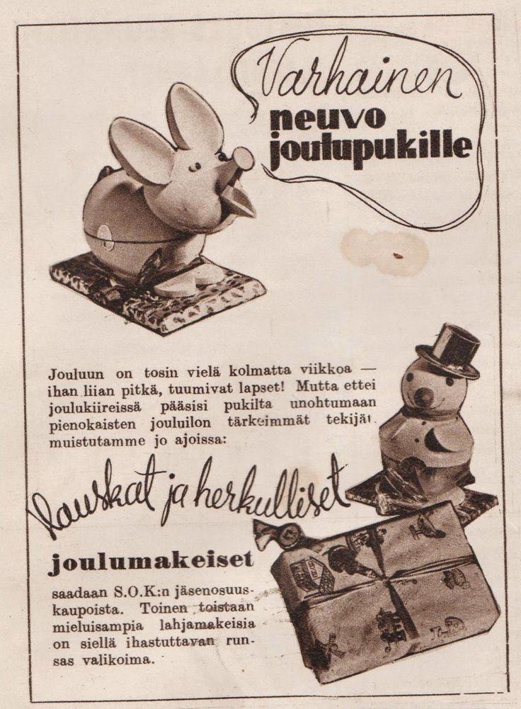 SOK joulumakeiset, 1938