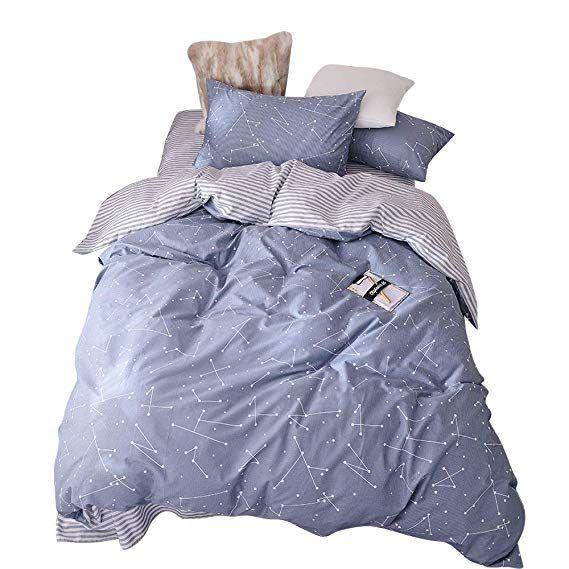 48 99 Bulutu Space Constellation Kids Bedding Duvet Cover Set Twin Blue Boys Girls Reversible Premium Co Bed Duvet Covers Bedroom Bedding Sets Comforter Cover