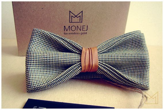 Green Men's Bow Tie FREE SHIPPING Bowtie with por MonejBowTies