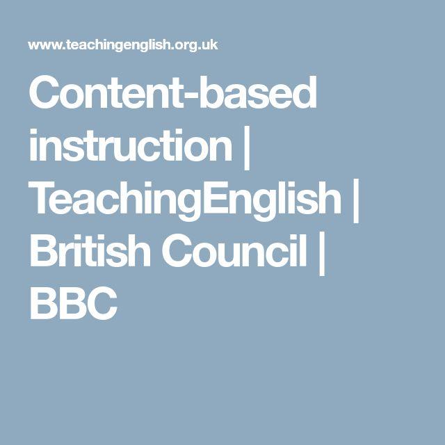 Content-based instruction | TeachingEnglish | British Council | BBC