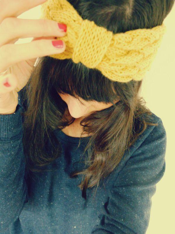 Bandeau à tricoter                                                                                                                                                     Plus