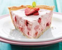 Strawberry Mousse Pie www.Tenderflake.com