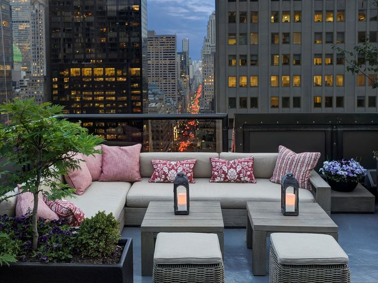 "This evergreen rooftop has a new Hamptons' beach chic look thanks to a May 2016 renovation. Get a table on the East Terrace, where you can overlook the shops of Fifth Avenue from 23 stories up. Tables are first-come, first-serve with one exception: the best spot in the house, the ""Corner Couch,"" which can be reserved in advance. Settle in and order a ""Ning Sling,"" a gin-based passion fruit mojito topped with lychees."