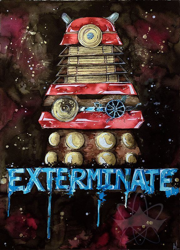 """Dalek - """"Exterminate!""""  By Galaxara. Please respect copyright and credits."""