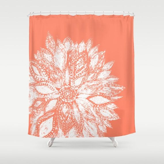 1000 Ideas About Coral Shower Curtains On Pinterest Shower Curtains Curtains And Beach