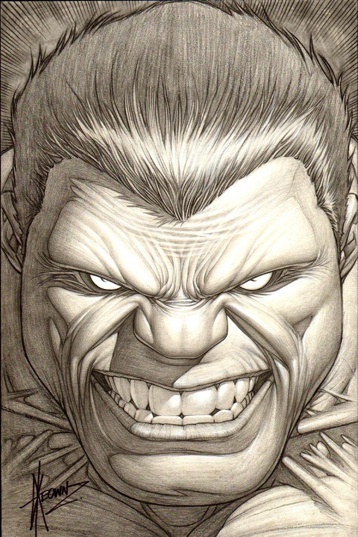 DALE KEOWN INCREDIBLE HULK COVER, in Yoram  Matzkin's KEOWN HULK COVERS Comic Art Gallery Room - 848861