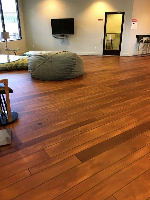Our awesome faux concrete wood flooring can transform your home or  business! Contact us for