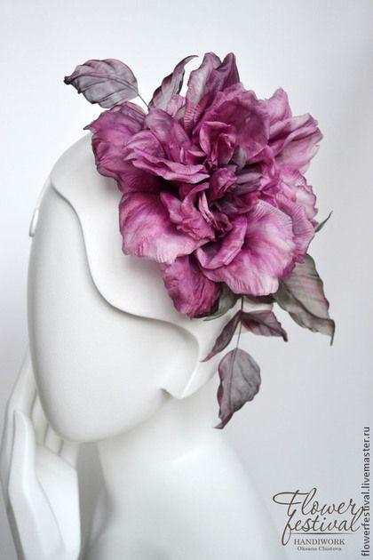 """Silk flowers. Роза """"Lady"""" из шелка. Цветы из ткани. Handmade. Цветы ручной работы Оксаны Чистовой. Ярмарка Мастеров - ручная работа."""