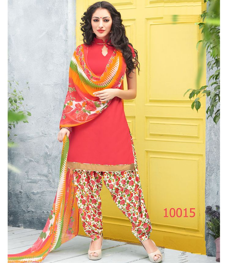King Sales New Fancy Latest Light Pink Printed Crape Patiala Suit