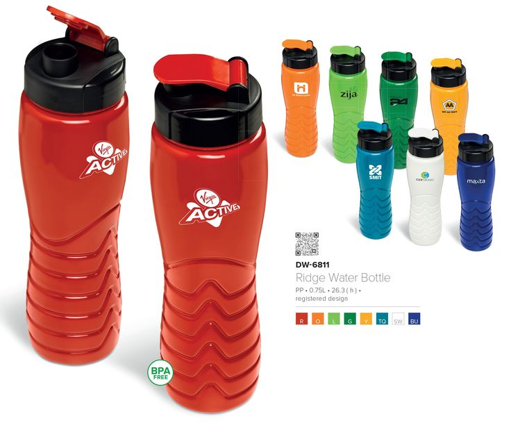 Ridge Water Bottle - Promotional Water bottles made in South Africa www.brandinnovation.co.za #waterbottles #promotionalproducts #sportsgifts #printedbottles #madeinsouthafrica