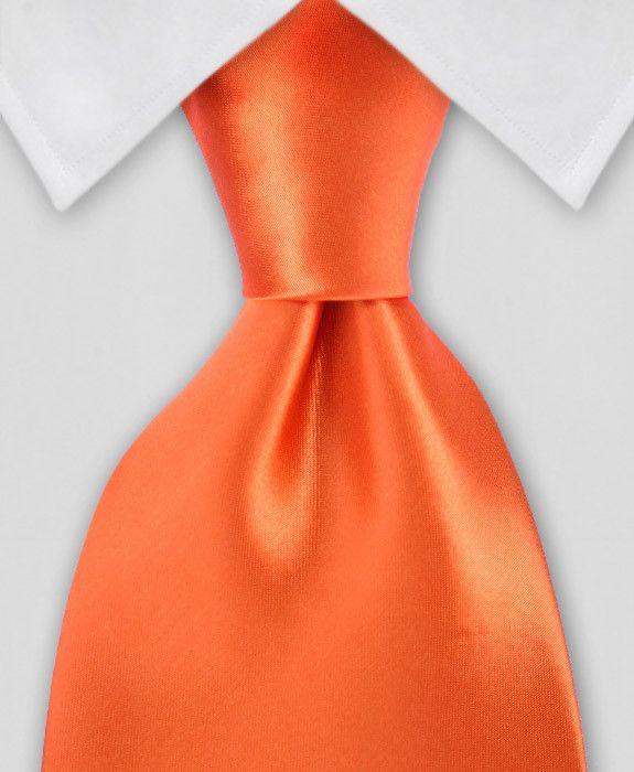 Solid Tie - Bold Orange Tie
